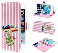 Mustache Shaped Union Jack Flag PU Leather Case with Stand and Card Slot for iPhone 6 Plus