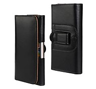 Light Surface PU Leather Full Body Case Cover with Waist Clip for iPhone 6