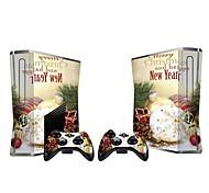 Xbox 360 Slim do console tampa adesivo protetor da pele controlador de pele adesivo