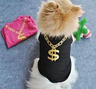 Коты / Собаки Футболка Черный / Розовый Одежда для собак Лето Свадьба / Косплей