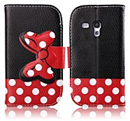 For Samsung Galaxy Case Card Holder / with Stand / Flip / Pattern Case Full Body Case Cartoon PU Leather Samsung Trend Duos