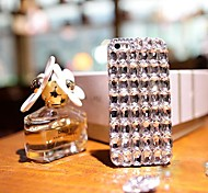 Luxury with  Big Diamond Hard Back Cover for iPhone 4 /  iPhone 4S (Assorted Colors)