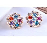 Love Is You Plum Flower Earrings Exquisite Diamond Inlay