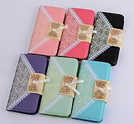 Lace Pattern Full Body PU Leather Case Cover with Stand  for LG G3