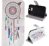 Windbell Design PU Leather Full Body Case with Stand for HTC One M8