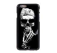A Skeleton Smoking Design Aluminum Hard Case for iPhone 6 Plus