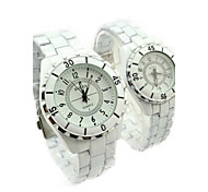 Couple's Steel Watch Ceramic Quartz Watch Cool Watches Unique Watches Fashion Watch