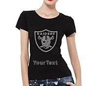 Personalized T-shirts Raider Skull Shield Pattern Women's Cotton Short Sleeves