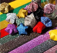Glitter Powder Lucky Star Origami Materials(20 Pages/1 Color/Package Random Color)