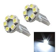 merdia t10 0.5W 12lm 6x1210smd LED blanche lumière de l'instrument de lumière / lampe de lecture (paire / 12v)