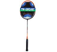 sirdar preto&fibra de carbono laranja formação raquete de badminton