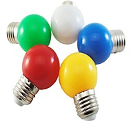 5 pcs MORSEN E26/E27 1 W 8 SMD 2835 50 LM Natural White/Red/Blue/Yellow/Green G Decorative Globe Bulbs AC 220-240 V