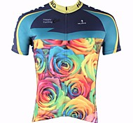 PALADIN Bike/Cycling Tops Men's Short Sleeve Breathable / Ultraviolet Resistant / Quick Dry 100% Polyester Nature & Landscapes BlueS / M