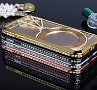 Deluxe hohlen Titanlegierung der rückseitigen Abdeckung mit der Raute für iphone 6-4,7 cm