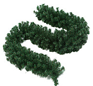2.7m natal decoração guirlanda verde