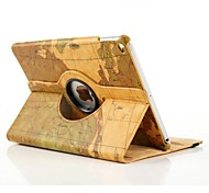 Map Pattern Design 360 Degree Rotating Stand Smart Case Cover for iPad Air 2