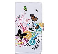Music Butterfly Pattern PU Leather Full Body Case for Sony T2