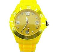 Men's Colorful Quartz Silicone Strap Wrist Watch (Assorted Colors)