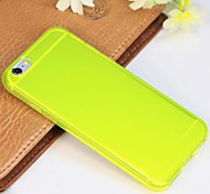 Newest High Quality TPU Ultrathin Matte Transparent Back Cover for iPhone 6(Assorted Colors)