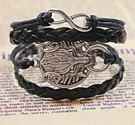 Men's Timberwolves Hand Woven Leather Bracelet
