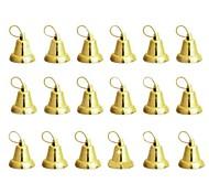 árbol de navidad campanas decorativas - oro 18 piezas