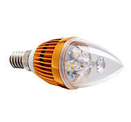 Luces LED en Vela Regulable E14 3W 3 LED de Alta Potencia 270 LM Blanco Cálido AC 100-240 V