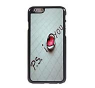 I Love You Design Aluminum Hard Case for iPhone 6