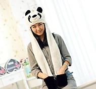 Unisex Long Section  Cute Panda  Warm Fuzzy Kigurumi Aminal Beanie
