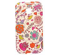 New Flowers Design Pattern Silicone Soft Case for Motorola Moto E