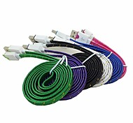 1M 3.3ft Braided Sync Data Cable USB Charger for Samsung HTC LG Android Phones (Assorted Color)