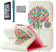 COCO FUN® Balloon Tree Pattern PU Leather Case with Screen Protecter, Stand and Stylus for iPhone 6 Plus 5.5