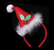 Lureme Christmas Red Christmas Hat Makeup Party Head Band