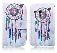 Wind Chimes Pattern PU Leather Case with Stand for Samsung Galaxy S3 MINI I8190