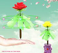 rc helicóptero de rosa del vuelo flor volando sentido regalo rosa para la novia aprendizaje educación