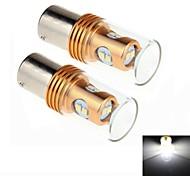2Pcs 1156 / BA15S 8W 8x2323SMD 450LM 6000K White Light LED for Car Turn Steering / Reversing Lamp (DC 12-24V)