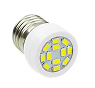 E27 4W 12LED 5730SMD 240-280LM 6000-7500K AC220-240V Spotlight White - White Silver
