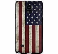 bandera de EE.UU. patrón pc caso duro para Samsung Galaxy Note 4