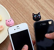 2Pcs Cartoon 3.5mm Anti-dust Plug for iPhone 5 and Others(Random Colors)