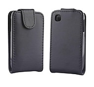 Solid Color Pattern Open Up and Down PU Leather Full Body Case for LG L40/D160