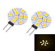 G4 2W 9 SMD 5050 LM Warm White / Cool White LED Bi-pin Lights DC 12 V