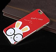 Painted Cartoon Rabbit PC Hard Case for iPhone 6 Plus
