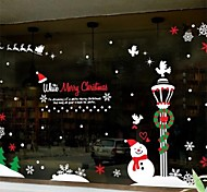 Christmas Decoration Snowman PVC Window Stickers