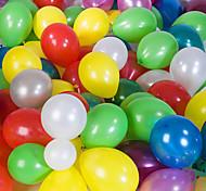 tamanho grande grossas balões redondos pearlized (cor aleatória, 100pcs)
