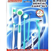 Bathroom Gadgets,8 PCS Teeth Oral Care Tools