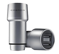 CRERCO Thor T1 4.8A All Metal&Dual USB&Fast Charging&Safety Hammer&Intelligent Car Chargers(Silver)