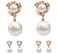 ROXI Fashion Jewelry Free Shipping Christmas Gift Statement Pearls Earrings Pure Hand Elegant For Women Party Wedding
