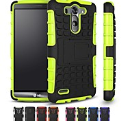 Two-in-One Tire Grain Design PC and Silicone Case with Stand for LG G3 (Assorted Colors)