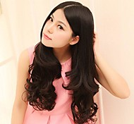 Natural Fsahion High Temperature Resistant Long Wavy Hair and Clip in Hair Extension with 5 Clips