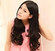 resistente al pelo ondulado largo Fsahion natural de alta temperatura y el clip en la extensión del pelo con 5 clips