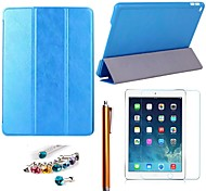 Sheepskin Crust PU Leather with Protective Film、Stylus and Dust Plug for iPad Air 2/iPad 6  (Assorted Colors)
